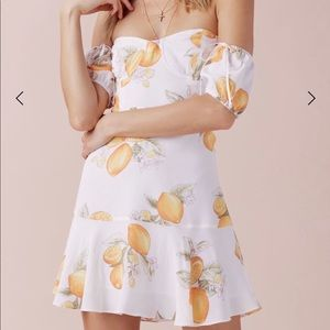 For Love & Lemons lemonade mini dress